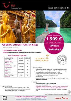 ¡Salidas Garantizadas! Thailandia: Súper Thai con Krabi 14 días/11 noches. Precio final desde 1.909€ ultimo minuto - http://zocotours.com/salidas-garantizadas-thailandia-super-thai-con-krabi-14-dias11-noches-precio-final-desde-1-909e-ultimo-minuto-3/