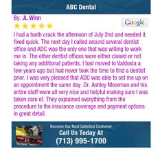 I had a tooth crack the afternoon of July 2nd and needed it fixed quick.  The next day I...