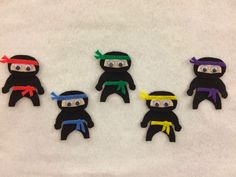 Literary Hoots: Flannel Friday: Five Little Ninjas Flannel Board Stories, Felt Board Stories, Felt Stories, Flannel Boards, Toddler Storytime, Pete The Cats, Felt Crafts, Abc Crafts, Letter Crafts