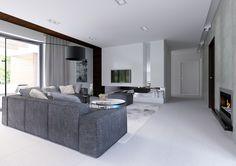 Wnętrze CPT Koncept 31 CE Modern House Design, Home, Fantasy House, Room Divider, Furniture, Bungalow, Modern, Living Room Design Colour, Modern House Plans