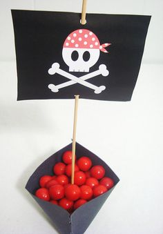 Items similar to Pirate Party Flags - DIY Printable Parties on Etsy Pirate Food, Pirate Theme, Pirate Party, Jack The Pirate, Pirate Birthday Cake, Boy Birthday, Diy Wrapping Paper, Carnival Decorations, Party Flags