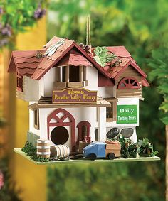 Another great find on #zulily! Paradise Winery Birdhouse #zulilyfinds