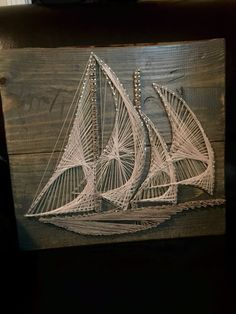 Nautical Sailboat String Art by TheRusticWarehouse on Etsy