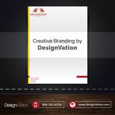Stationary design for Sir Lancelot. Get Your Stationary done today. Visit us: www.designvation.com #Stationary #Letterhead #marketing #design #Branding #DesignVation