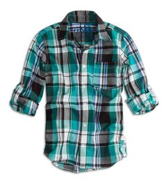 77 coastal plaid button down shirt