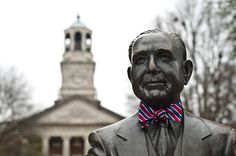 The Beeson Bow Tie by Brier & Moss, inspired by Samford University in Birmingham, AL. Bow Wow Bulldogs!