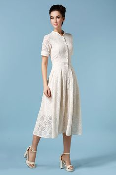 $23.63 Gorgeous white lace dress.