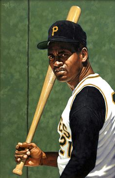Roberto Clemente Original Painting by Arthur K Miller Baseball Painting, Baseball Art, Roberto Clemente, Puerto Rico Pictures, Negro League Baseball, Pittsburgh Pirates Baseball, Sports Art, Sports Posters, Mlb Players