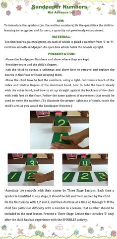 Montessori Sandpaper Numbers with Box Montessori Preschool, Montessori Education, Montessori Materials, Maria Montessori, Fun Learning, Preschool Activities, Alternative Education, Number Activities, Practical Life