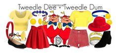 Tweedle Dee and Tweedle Dum DisneyBound Disney Bound Outfits Casual, Disney Outfits, Cute Outfits, Disney Clothes, Disney Dresses, Disneyland Outfits, Tokyo Disneyland, Summer Outfits, Disney Character Outfits