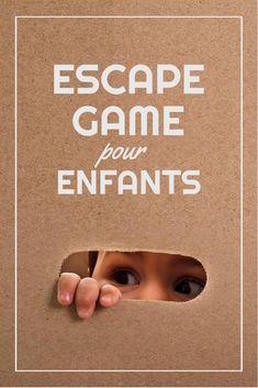 Escape Game pour enfants à faire la maison ! #enfants #diy #escaperoom #escapegame #rire #homemaid #jeux #evasion #famille #main #carton #vacances #fun Escape Game Enfant, Laughing, Vacation, Gaming, Children