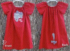 Alabama Crimson Tide Elephant Peasant Dress
