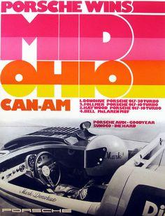 Porsche Wine Mid Ohio Can-Am 1973 - Automobile F1 Posters, Real Racing, Auto Racing, Porsche Factory, Audi, Mid Ohio, Porsche Motorsport, Car Racer, Turbo S