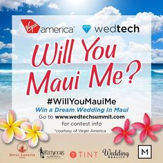 #Win a Dream Wedding on Maui.  The couple who sends the most creative and compelling story in a tweet or post will win a romantic Maui wedding Prize pack!