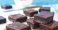Dark, moist fudge brownies made with zucchini.