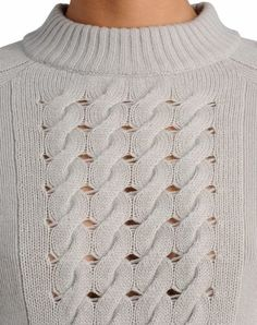 Roll Neck Sweater - cables