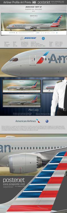 Boeing 787-9 American Airlines N824AN    www.aviaposter.com   #aviation #jetliner #airplane #pilot #aviationlovers #avgeek #jet #airport #pilotlife #cabincrew