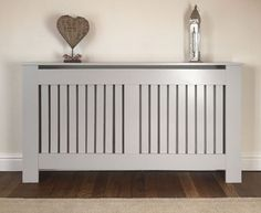Painted in the hottest interior design colour of the moment, this elegant grey radiator cover is a must-have for your home. Order now from Jack Stonehouse. Diy Radiator Cover, Narrow Living Room, Living Room Modern, Kitchen Radiator, Painted Radiator, Bedroom Minimalist, House Color Palettes, Townhouse Interior, Cover