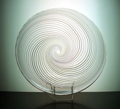 Nyman for Nuutajarvi 'Huntu' (Veil) vase Glass Design, Design Art, Modern Glass, Finland, Spiral, Scandinavian, Glass Art, Vase, Dreams