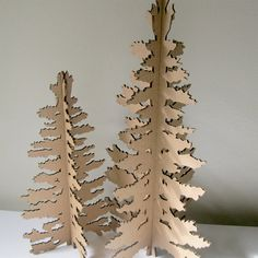 Cardboard Christmas Tree Eco Laser Cut Holiday by FabParlor