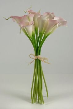 Calla Lily Bouquet Natural Touch Flowers Pink(12 flowers) $19 each/ 3 for $18 each