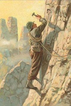 Old post card climbing / B.