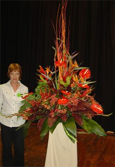 Floral Art Club Durban :: Church Flowers - Pentecost/Holy Spirit Church Wedding Flowers, Altar Flowers, Shade Flowers, Funeral Flowers, Large Flowers, Easter Flower Arrangements, Floral Arrangements, Japanese Flowers, Arte Floral