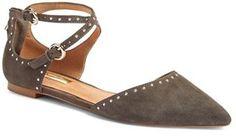 Women's Halogen 'Bristal' Ankle Strap Pointy Toe Flat #flats