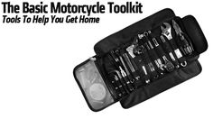 Having a well equipped motorcycle repair kit is great to do maintenance, basic repairs and upgrades on our bikes. Here are some essential tools to have. Motorcycle Tool Bag, 1200 Gs Adventure, Adventure Travel, Bike Repair Stand, Bike Tools, Leather Roll, Super Bikes, Motorcycle Accessories, Tool Kit