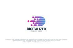 Letter D - Digitalizer Logo @creativework247