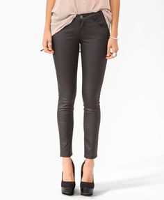 Coated Ankle Skinnies | FOREVER21 - 2000043273