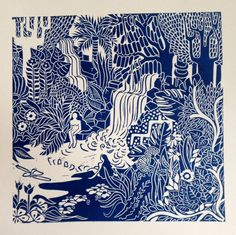 Limited edition original lino print Printed on high quality acid free Snowdon cartridge 38cm x 52cm (approx)
