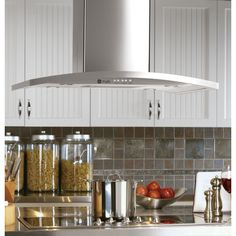 Shop GE Profile 35.875-in Ducted Island Range Hood (Stainless) at Lowes.com