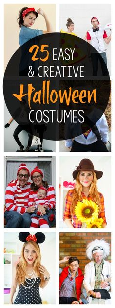 Halloween Party Costumes: 25 Easy & Creative Ideas Easy and Creative Halloween Party Costumes for moms couples groups and families. These Halloween costume ideas are easy to pull off! Source by somewhatsimple Quick N Easy Halloween Costumes, Easy Couples Costumes, Handmade Halloween Costumes, Halloween Party Kostüm, Mom Costumes, Creative Halloween Costumes, Halloween Makeup, Halloween Couples, Halloween Ideas