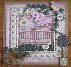 Kaartengalerij - Marianne Design Cute Cards, Cards Diy, Birdhouse Craft, Marianne Design Cards, Dress Card, Bird Cards, Handmade Dresses, Masculine Cards, Shabby