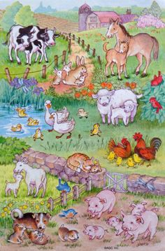 Petting Zoo Horse Cow Pigs Sheep Goat Feeding Machine Jolee/'s 3D Stickers