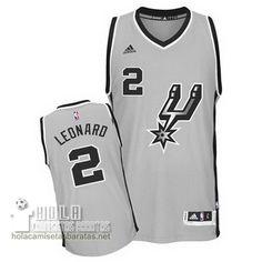 Camisetas Nba Baratas 2016 Swingman Leonard #2 Gris San Antonio Spurs  €21.9
