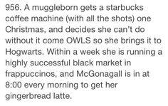 Muggleborn Head Canon <--------- Gotta love McGonagall