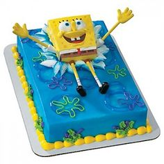 We love #SpongeBob, so here's an example for a perfect cake that you can make at home.  http://www.birthdaypartykidz.com/sponge-bob/