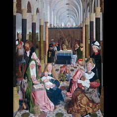 1491.Geertgen tot Sint Jans,1460-95, De heilige maagschap 1491, Rijksmuseum.Amsterdam.
