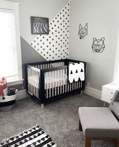 Get inspired by Modern Nursery Design photo by Room Ideas. Wayfair lets you find the designer products in the photo and get ideas from thousands of other Modern Nursery Design photos. Baby Room Design, Nursery Design, Baby Boy Rooms, Baby Boy Nurseries, Kids Rooms, Baby Room Ideas For Boys, Room Baby, Baby Boy Nursey, Girl Room
