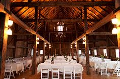 exposed rafters. so similar to our venue...love it :)