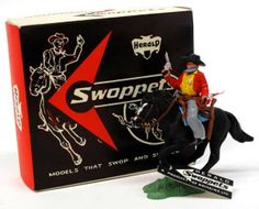 Britains H630 Cowboy Sheriff Mounted, with card tag, in red/black issue box, in mint boxed condition- Ex Shop stock