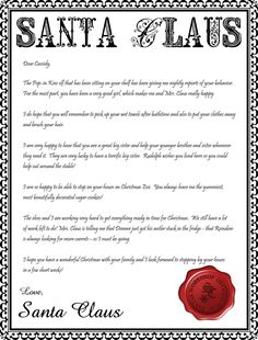 Santa claus letterhead will bring lots of joy to children seven thirty three a creative blog freebie letter from santa paper spiritdancerdesigns Images