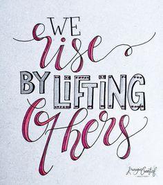 74 vind-ik-leuks, 2 reacties - Krougie Creatief (@krougiecreatief) op Instagram: '- We rise by lifting others - .  Dag 3 mei  #dutchletteringchallenge #handlettered #scriptlettering…'