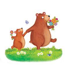 Flower Power Bear by Kate Daubney