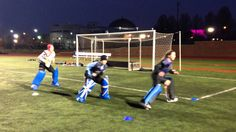 Field hockey goalie footwork side sliding drill- SUPER basic, but great to increase a gks lateral speed Field Hockey Drills, Soccer Drills, Goalkeeper Drills, Hockey Training, Soccer Goalie, Hockey Coach, Hockey Season, Coaching, Summer Workouts