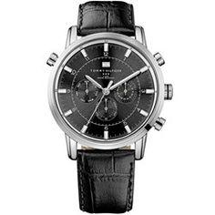 7127727c3d2  VIVARA  Relógio Tommy Hilfiger Masculino Couro Preto - R  295