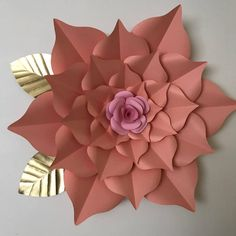 PDF Paper Flower Template, Digital Version, Including The Base - Giant 40 Inch Flower - The Rosa Mystica by TheCraftySagAnnie on Etsy