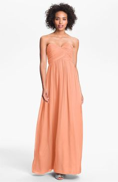 Donna Morgan 'Lauren' Ruched Sweetheart Silk Chiffon Gown | Nordstrom